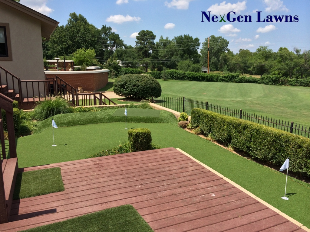 Artificial Putting Green With Tee Mat And Chipping Area Broken Arrow Ok 2