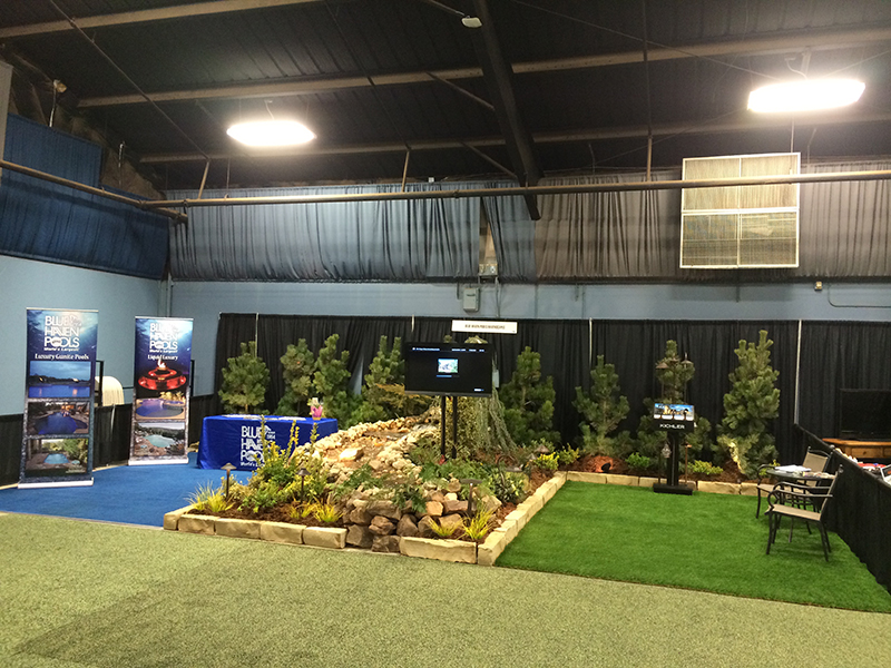 Trade Show Booth With Artificial Grass 4 Nexgen Lawns