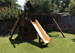 Playground with Artificial Turf in Tulsa Oklahoma