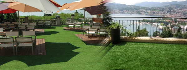 Artificial Grass On A Balcony