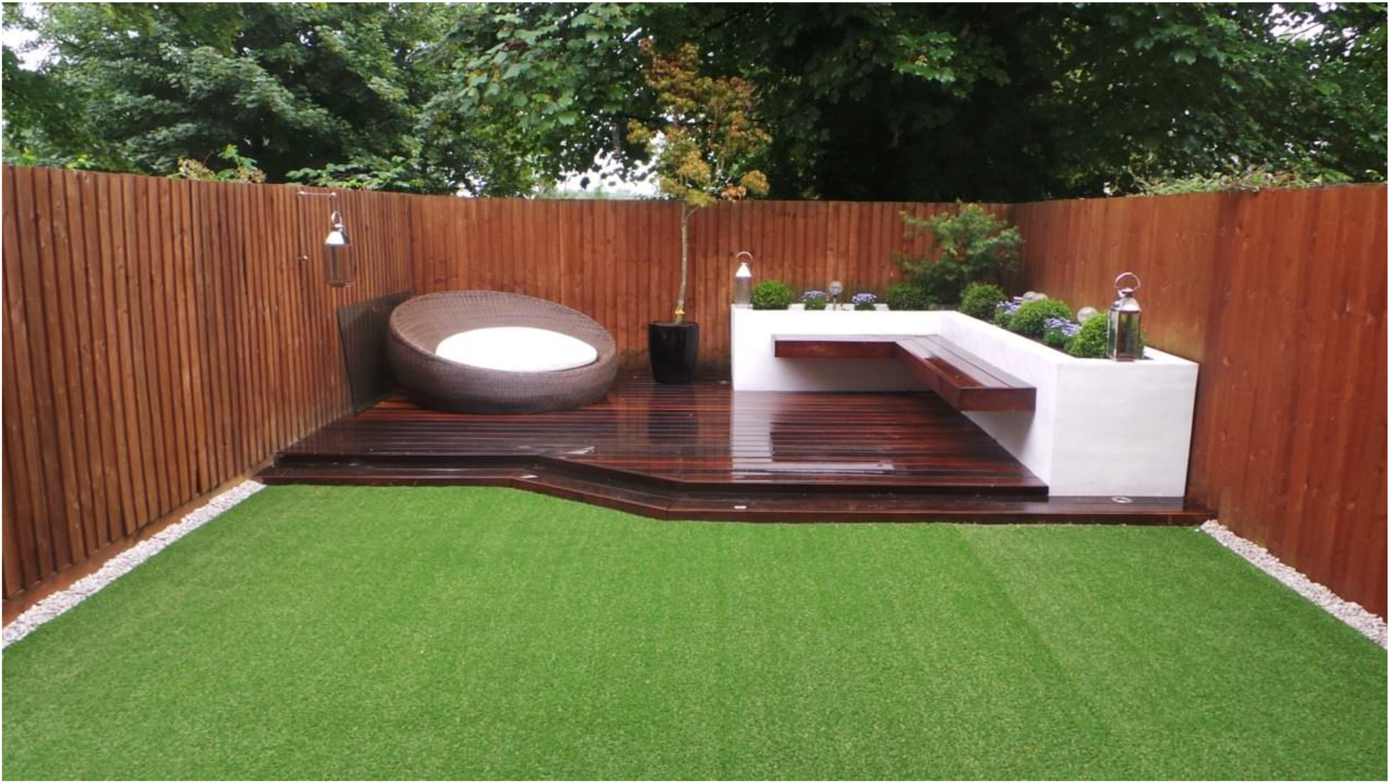 refresh your small backyard with synthetic grass