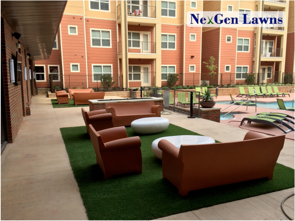 Nice Cheer Patio Artificial Grass Rug