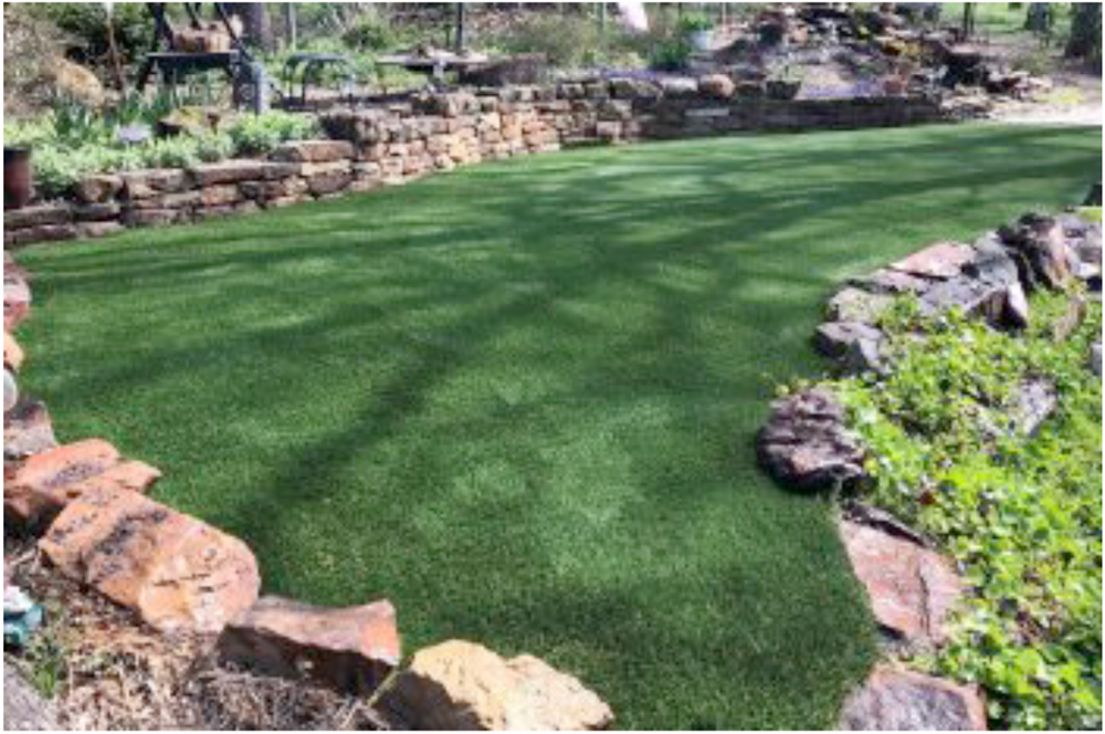 add synthetic home grass